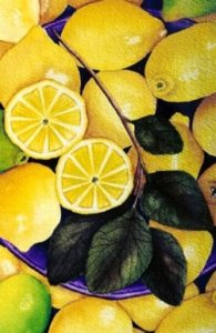 Painting of lemons by Rae Ann Williams
